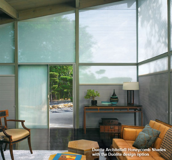Duette Architella® Honeycomb Shades with the Duolite design option